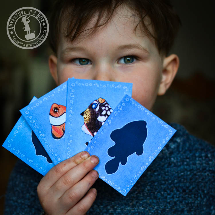 Sea animals printable memory game for kids. Big beautiful cards with pictures of animals that are both biologically informative and kid-friendly!