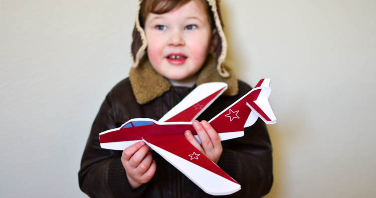 DIY Foam Glider Airplane with Printable Pattern & Design