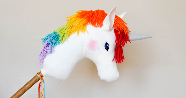 DIY Rainbow Unicorn Hobby Horse