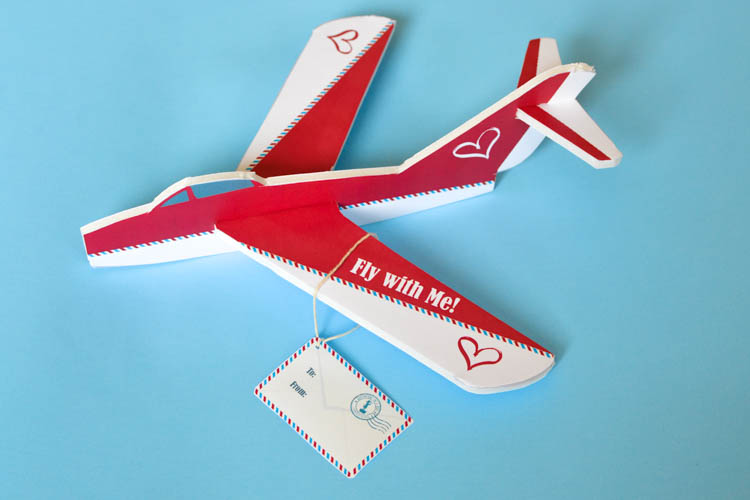 DIY Valentine Foam Airplane with Printable Design