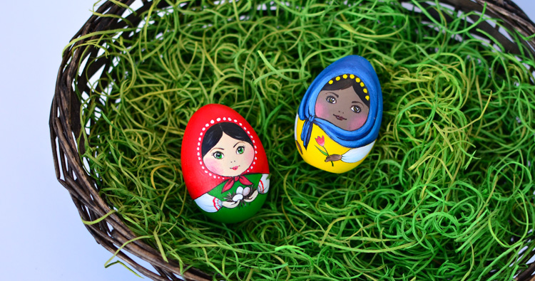 Matryoshka Easter Egg Craft