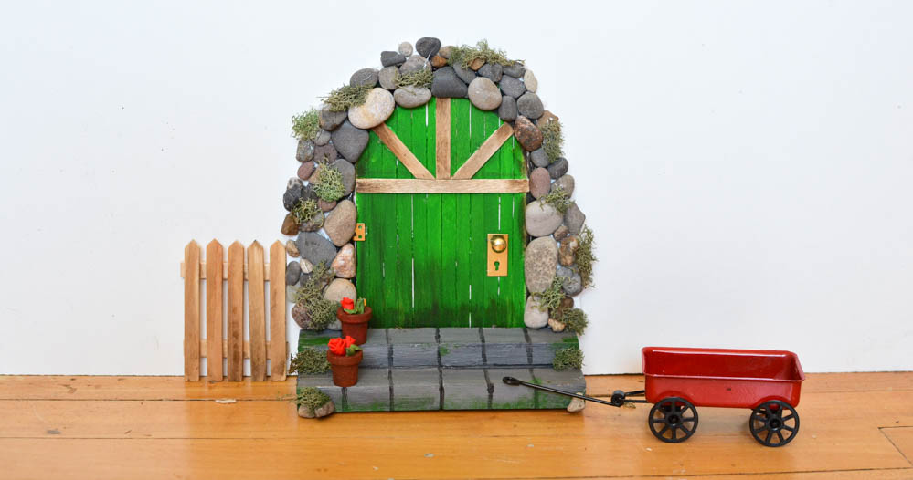 Make a DIY Fairy Door from Craft Sticks