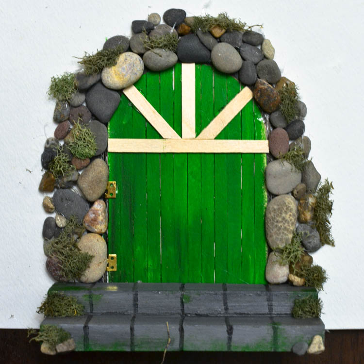 Make a diy fairy door from craft sticks adventure in a box for White fairy door