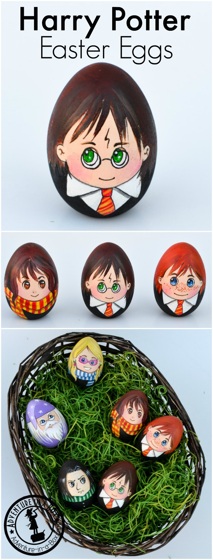 Celebrate Easter with a set of Harry Potter Easter Eggs! A quirky craft for Harry Potter fans. Have you seen that egg-shaped Snape?
