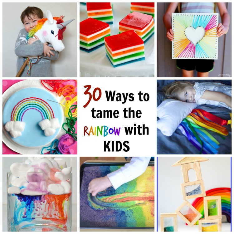 Tame the rainbow with kids by making a rainbow craft! Here we have rainbow-themed food, toys, art and clothes.
