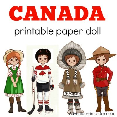canada printable paper doll