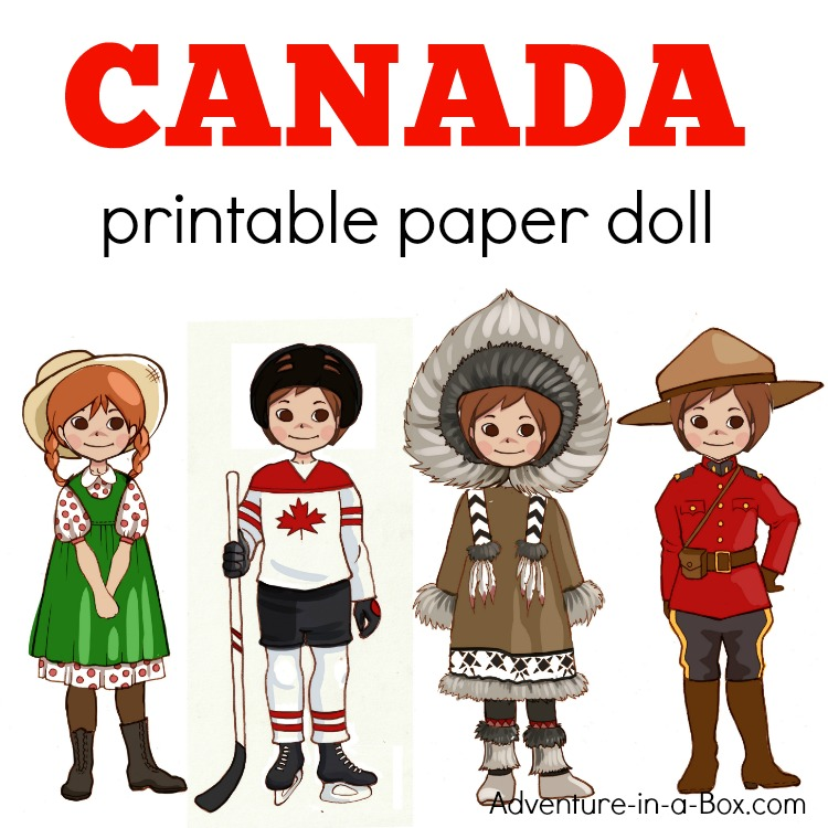 Canadian DressUp Paper Doll With A Printable Template  Adventure
