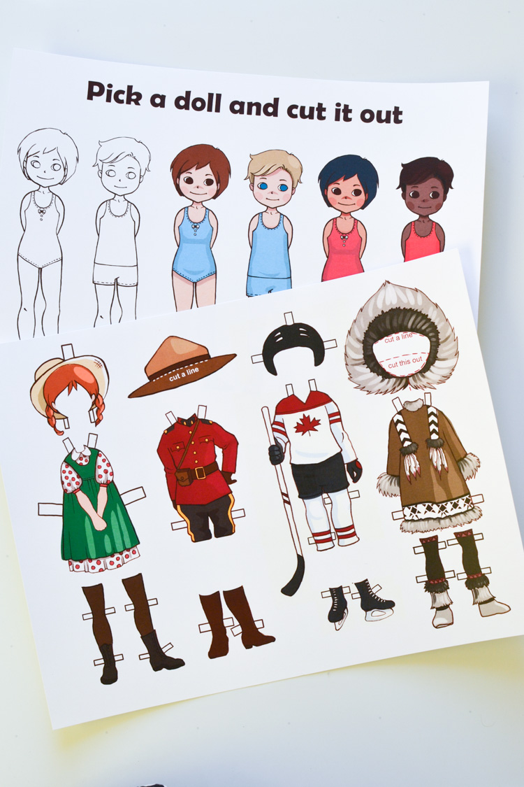 Canadian DressUp Paper Doll Printable