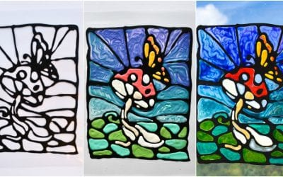 Black Glue Stained Glass Art