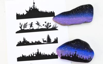 How to Transfer Silhouette Designs onto Rocks